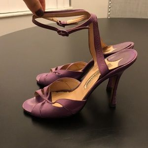Vintage Manolo  Blahnik purple sandals